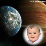 Fotomontaje de Planeta Tierra