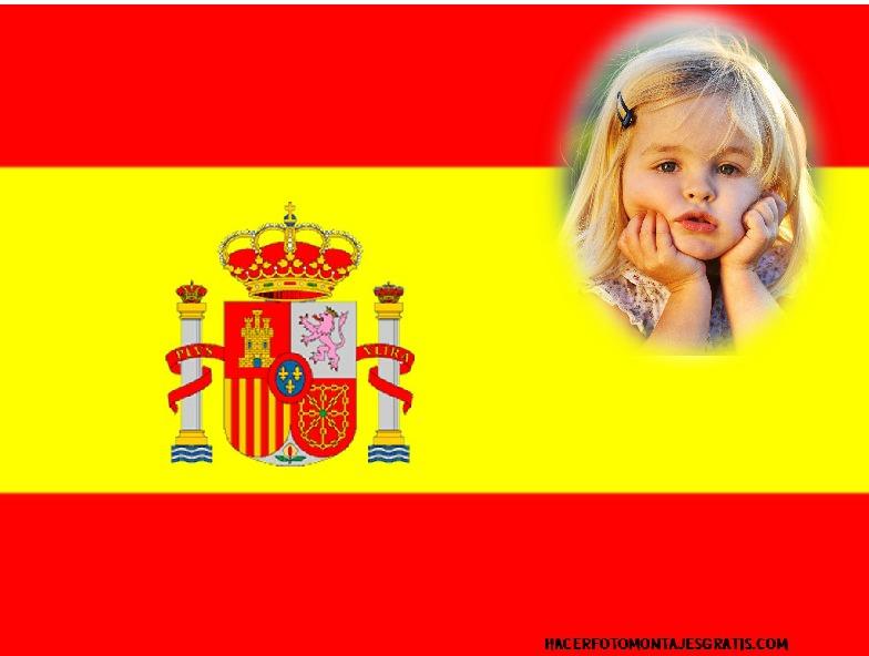 Fotomontaje de Bandera España