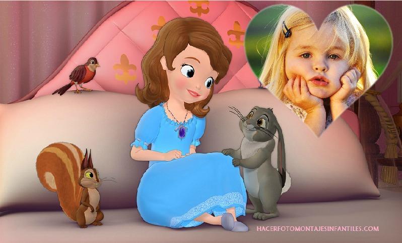 Fotomontaje de Sofia la Princesa