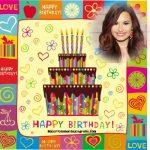 Fotomontaje de Cumpleaños con pastel
