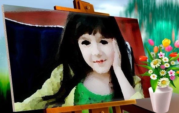 Fotomontaje de cuadro tinta al óleo