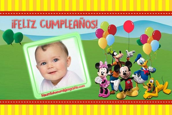 Fotomontajes cumpleaños de Mickey y sus amigos