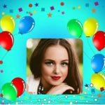 Fotomontaje de Feliz Cumpleaños con globos