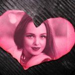 Fotomontaje de corazon rosa