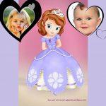 Fotomontaje de la Princesa Sofía para dos fotos