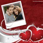 Fotomontaje con dos corazones