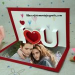 "Hermoso fotomontaje con frase ""I Love You"""
