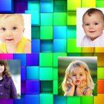 Fotomontaje de colores para cuatro fotos
