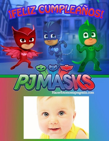 fotomontajes pj masks - marcos infantiles de pj masks