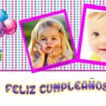 Fotomontaje Feliz Cumpleaños para dos fotos